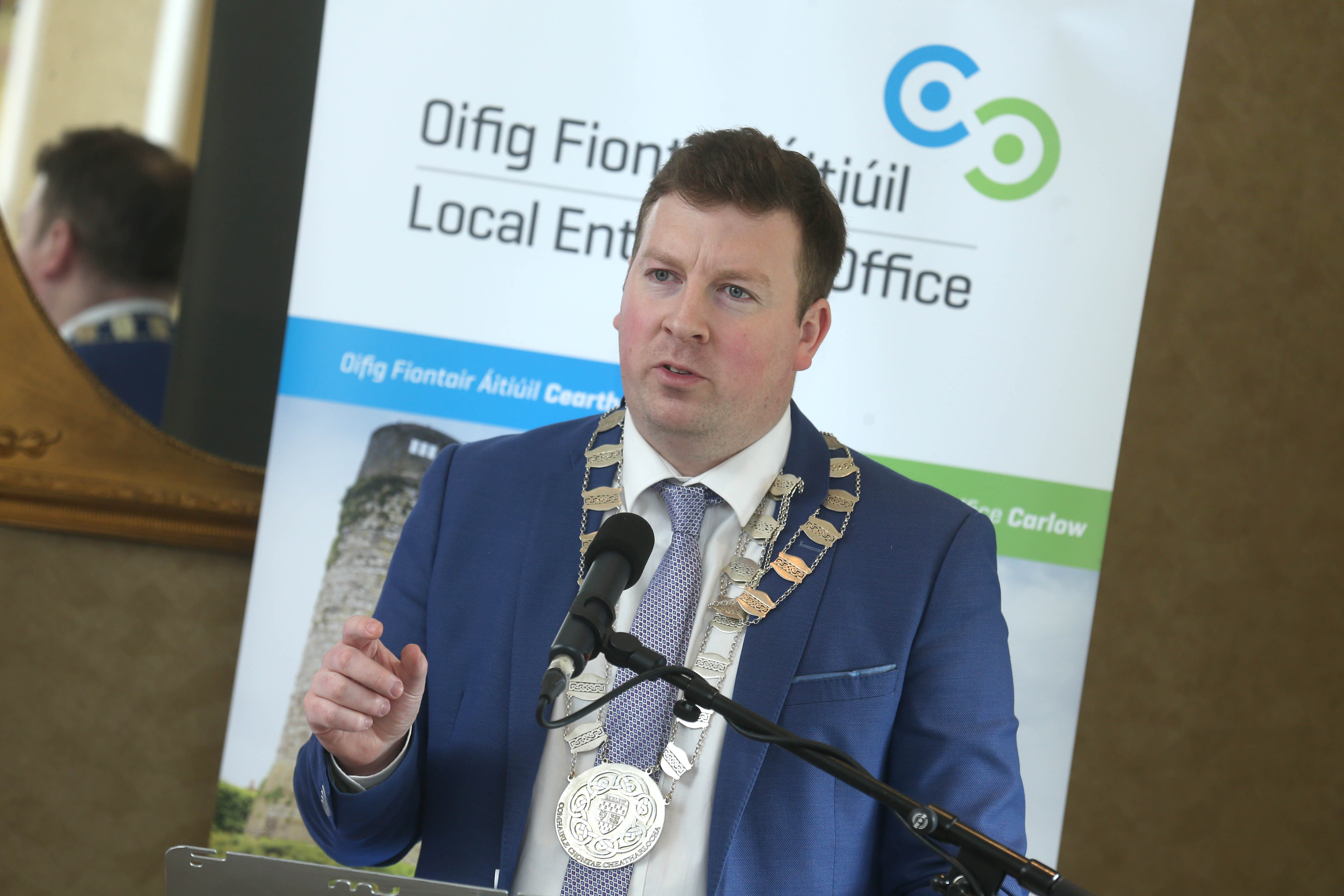 Cllr Brian O' Donogue promoting Carlow's International Economic Links