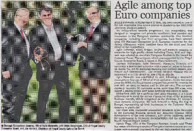 Agile Among Top Euro Companies front page preview