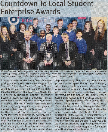 Countdown to Local Student Enterprise Awards front page preview