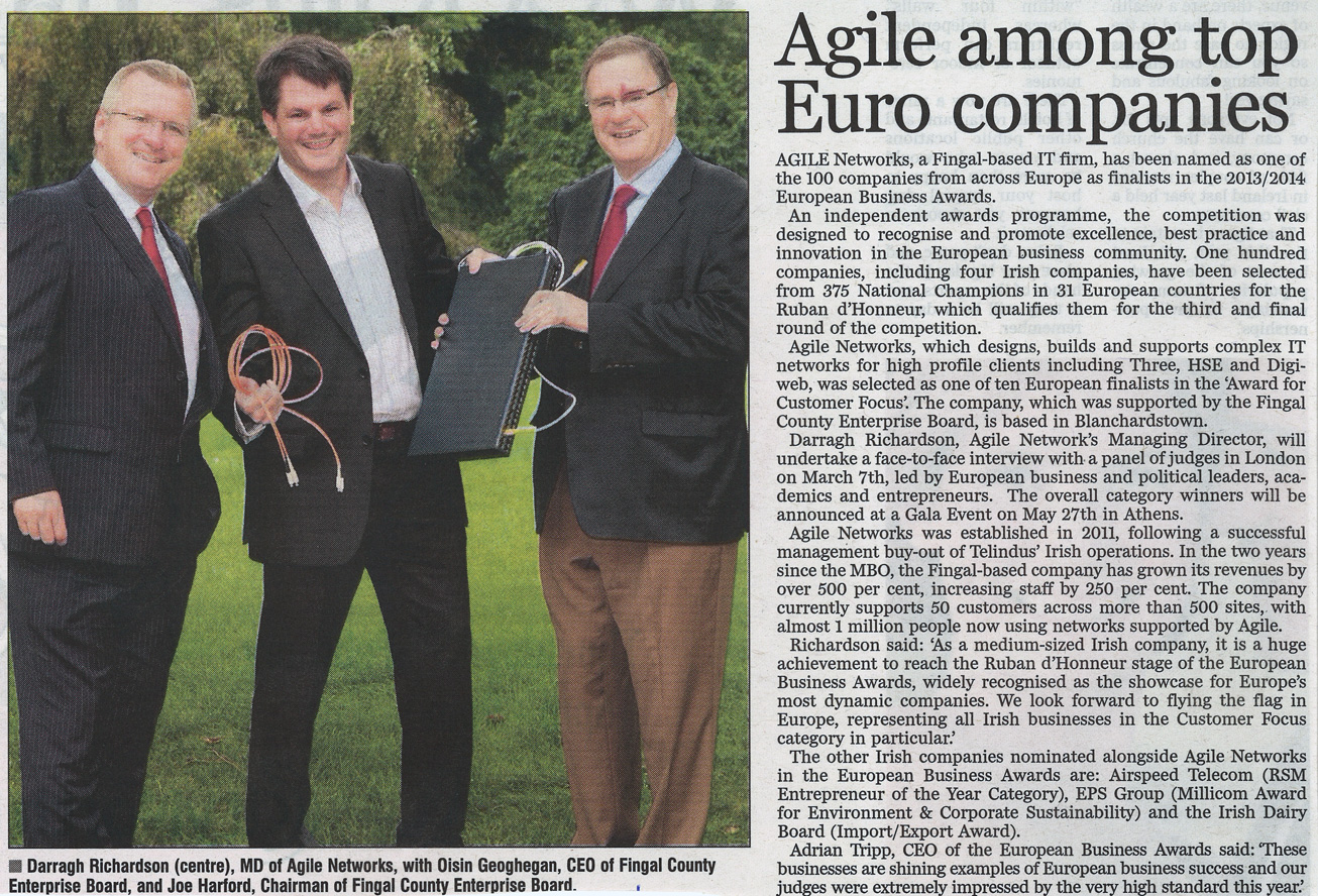 Press Images: Aigle Networks among top Euro Companies front page preview