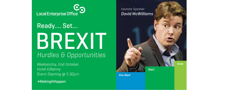 David McWilliams to address Kilkenny Business People on the Hurdles and Opportunities presented by Brexit.