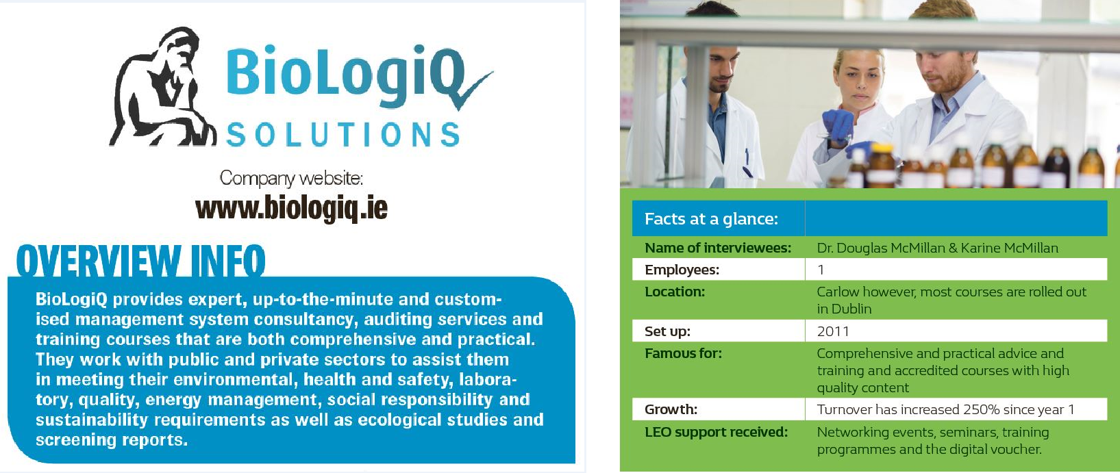 BioLogiq Title and Facts