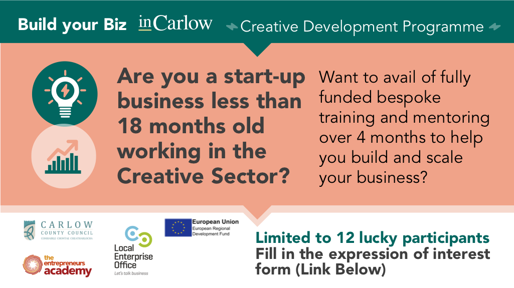 Creative Start UP's with new inCarlow Development Programme