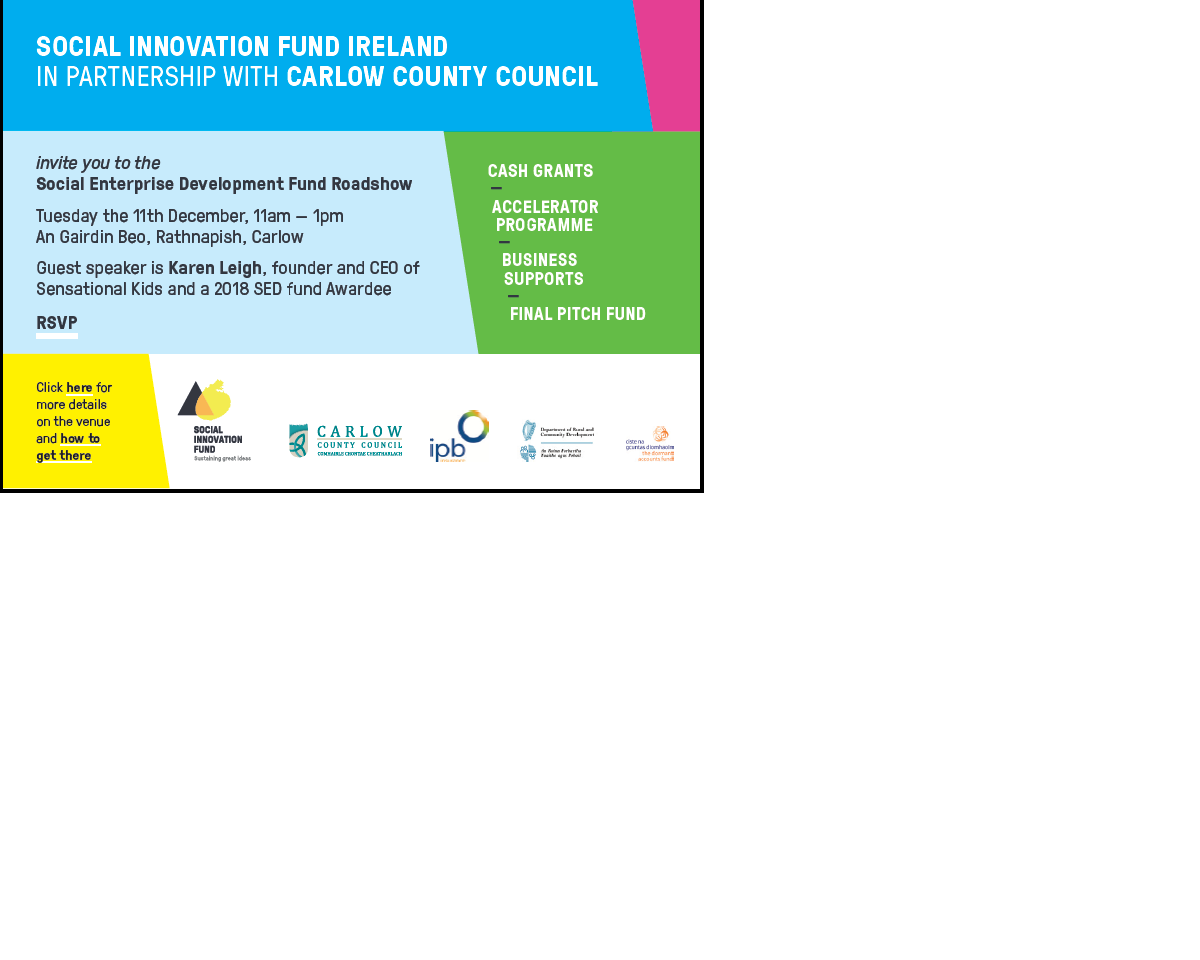 Social Innovation Fund Ireland in partnership with Carlow County