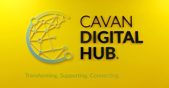 Cavan Digital Hub Logo - Yellow