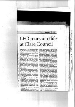 Launch of LEO Office in Clare People