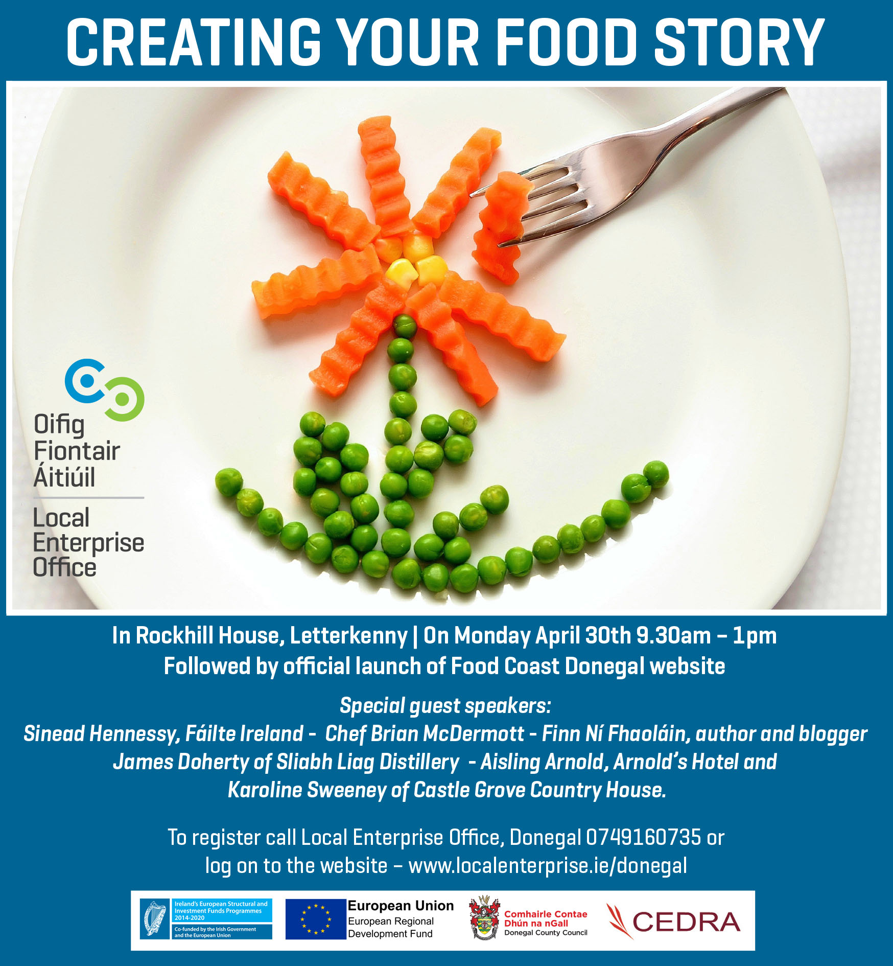 Create Your Food Story Logo
