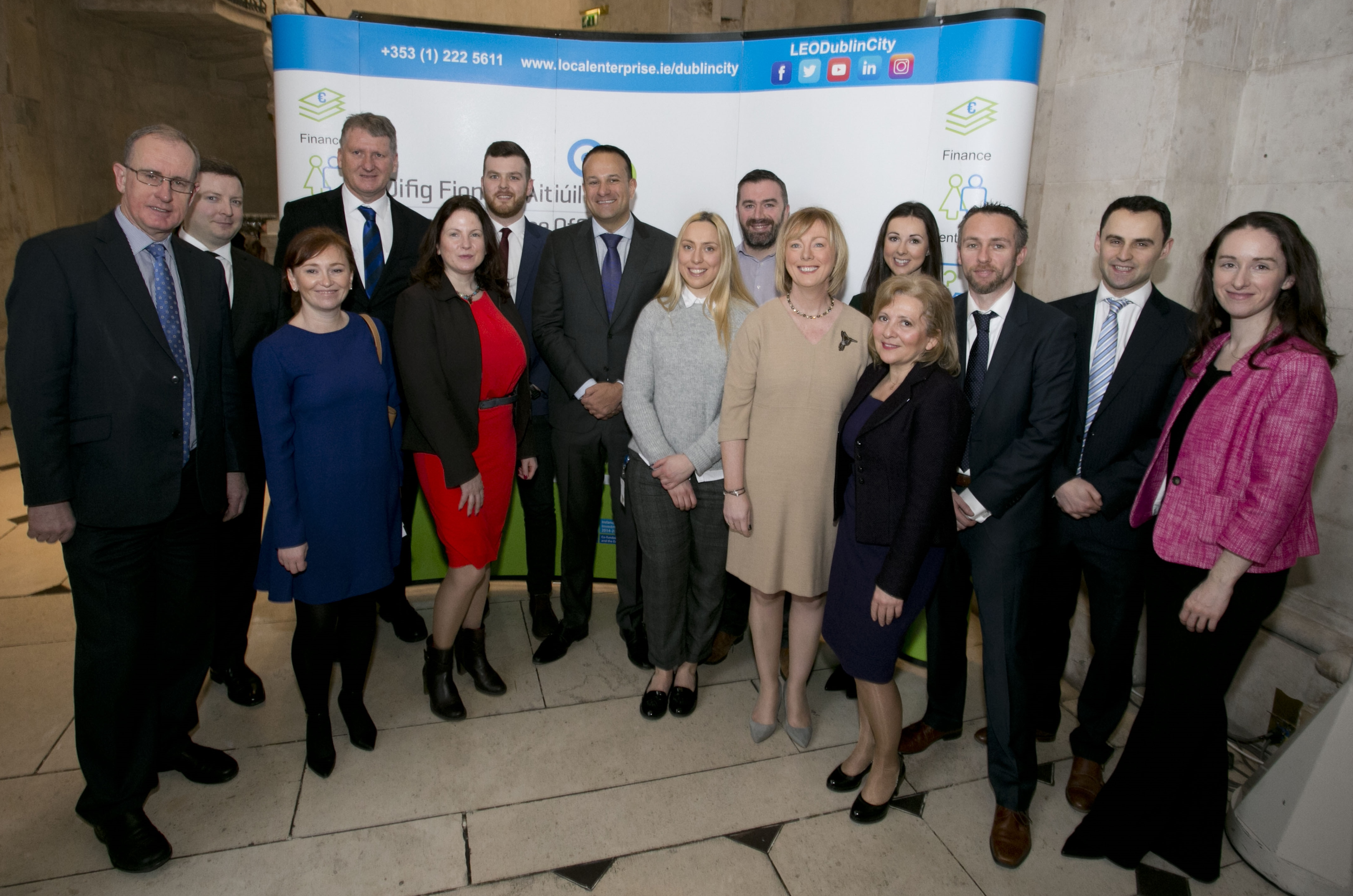 LEO Staff with Taoiseach