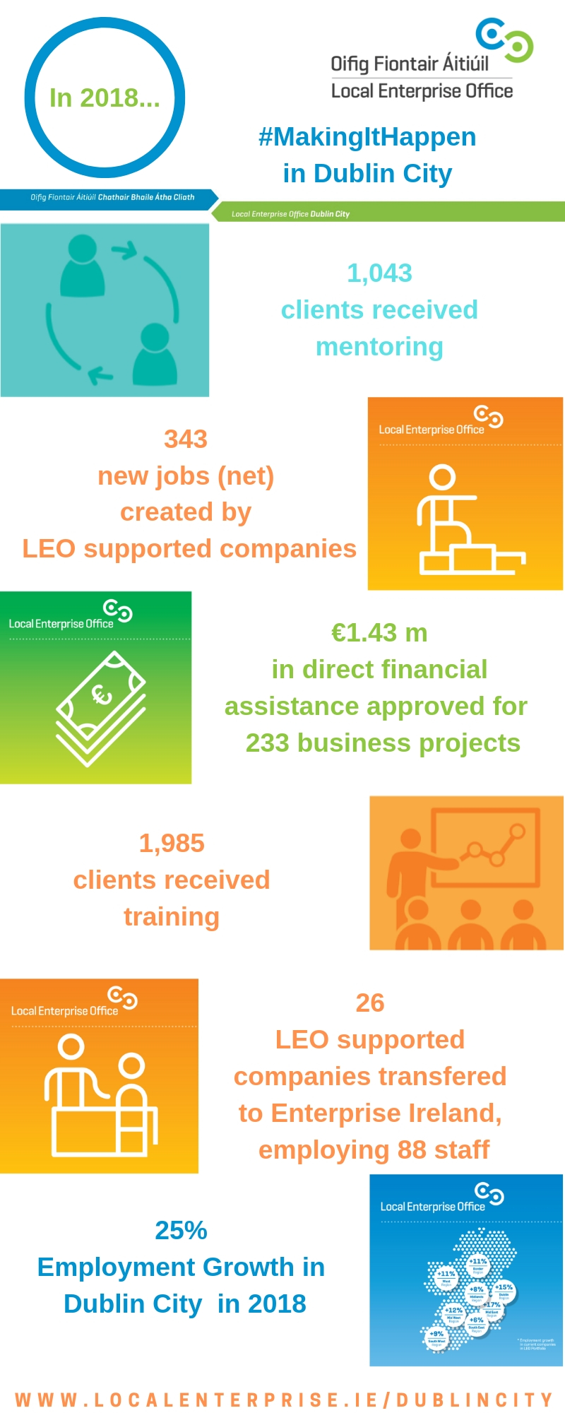 LEO Dublin City Outcomes 2018