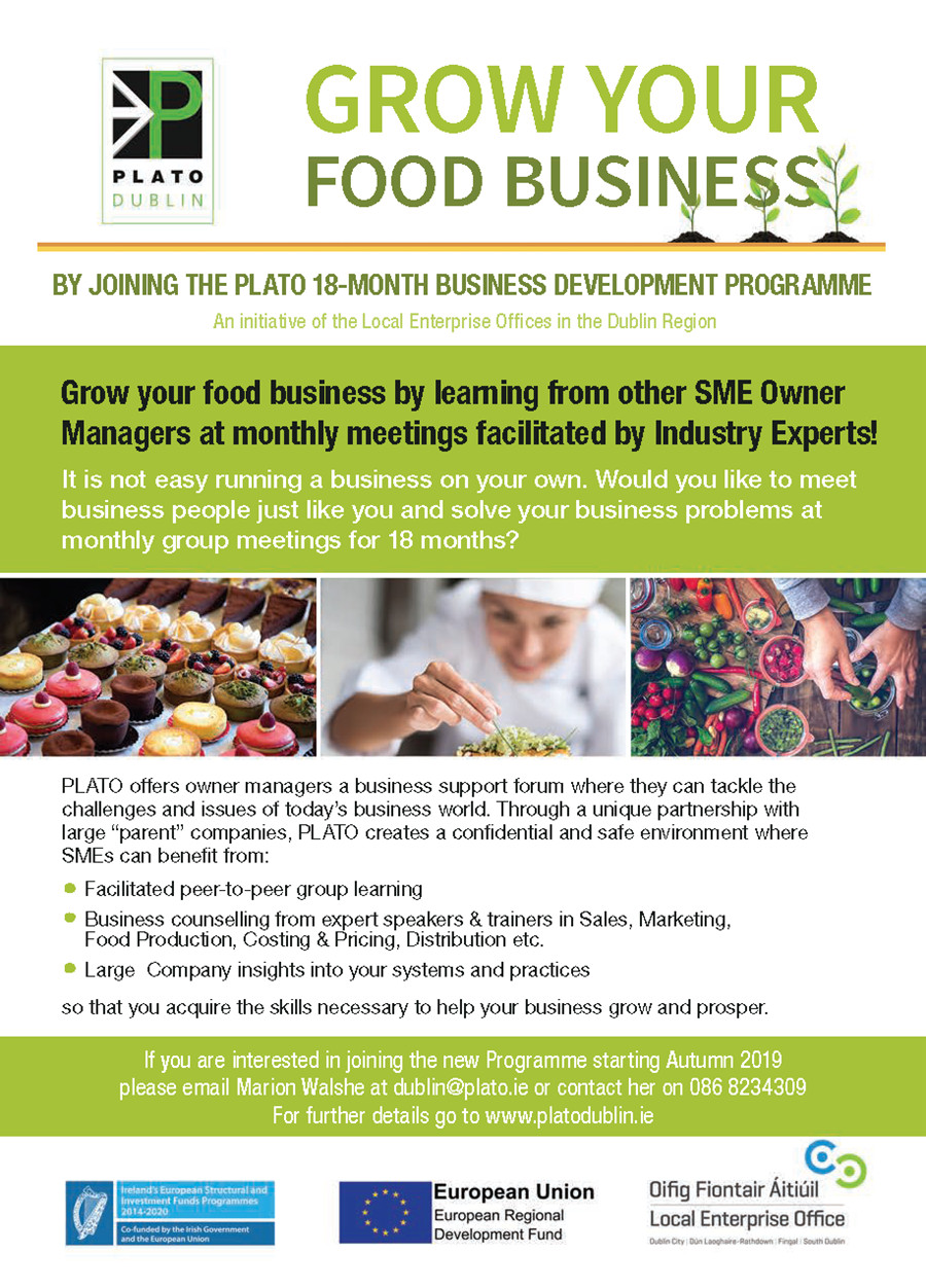 Grow Your Own Food Business Flyer Autumn 2019
