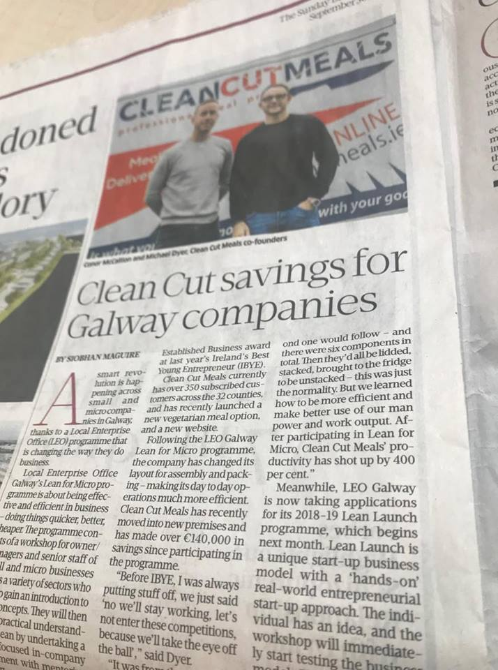Sunday Business Post LEO Galway feature