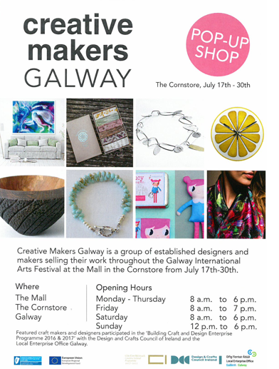 Creative Galway Pop Up Shop