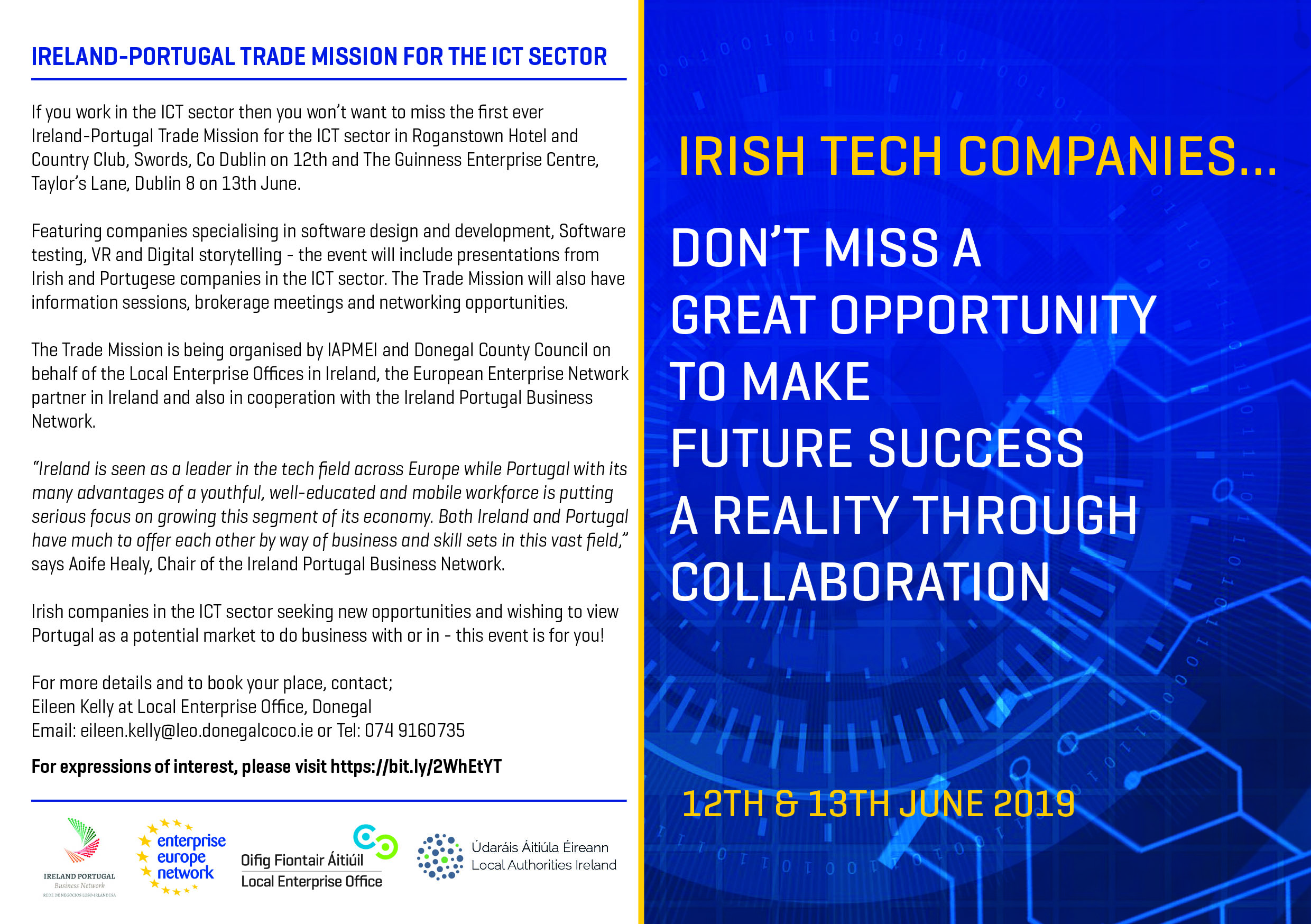 Ireland Portugal ICT Company Mission 12th & 13th June
