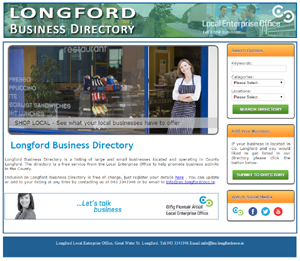 Longford Business Directory screenshot