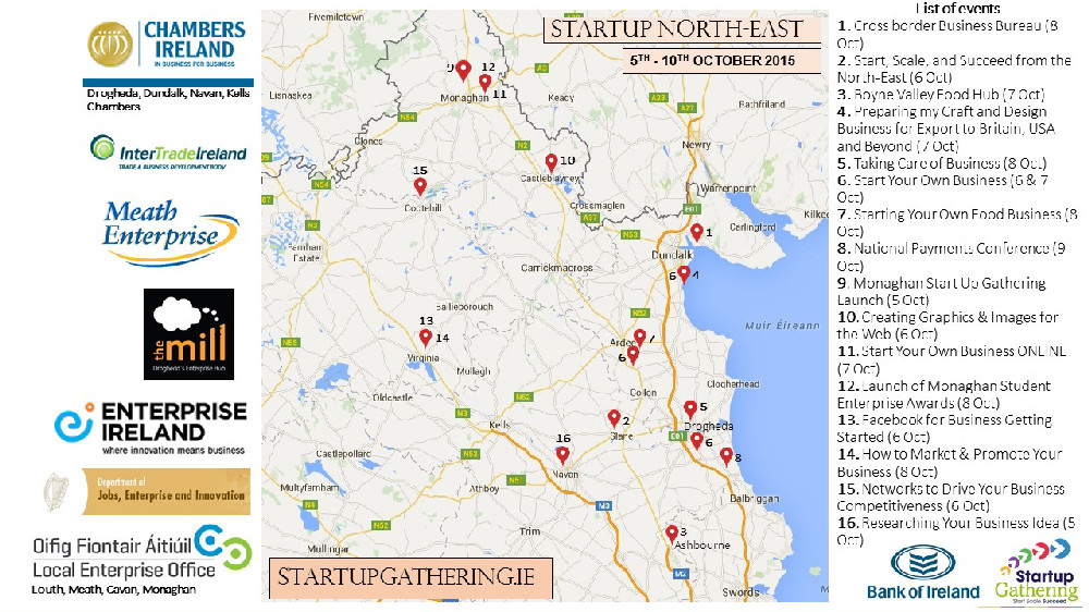 StartUp NorthEast Map