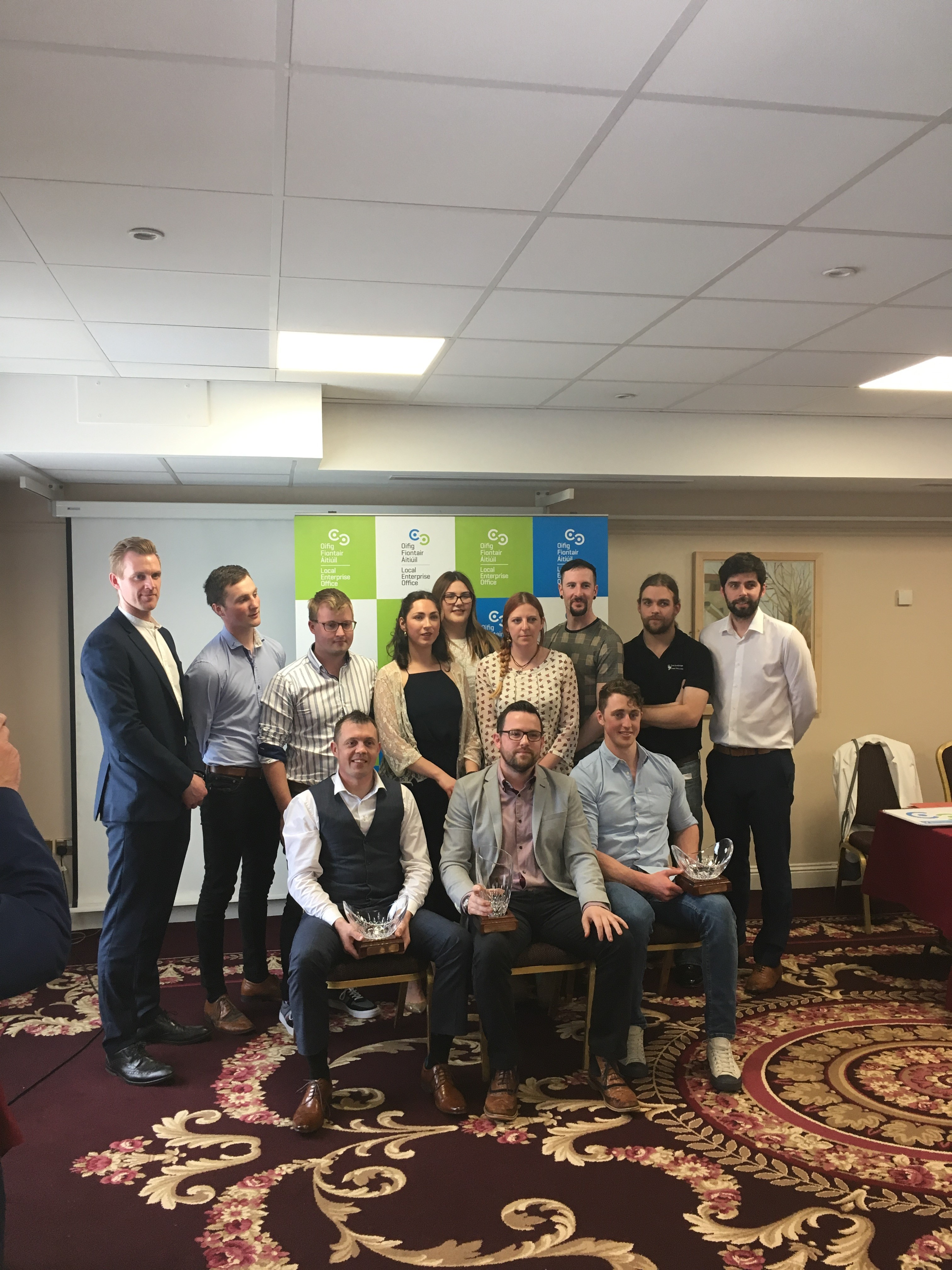 winners of the County Roscommon Final of Ireland's Best Young Entrepreneur