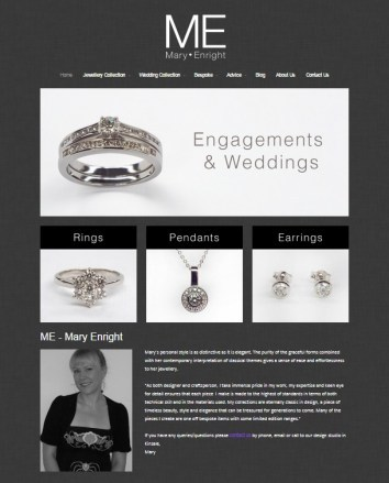 Mary Enright Website screen shot