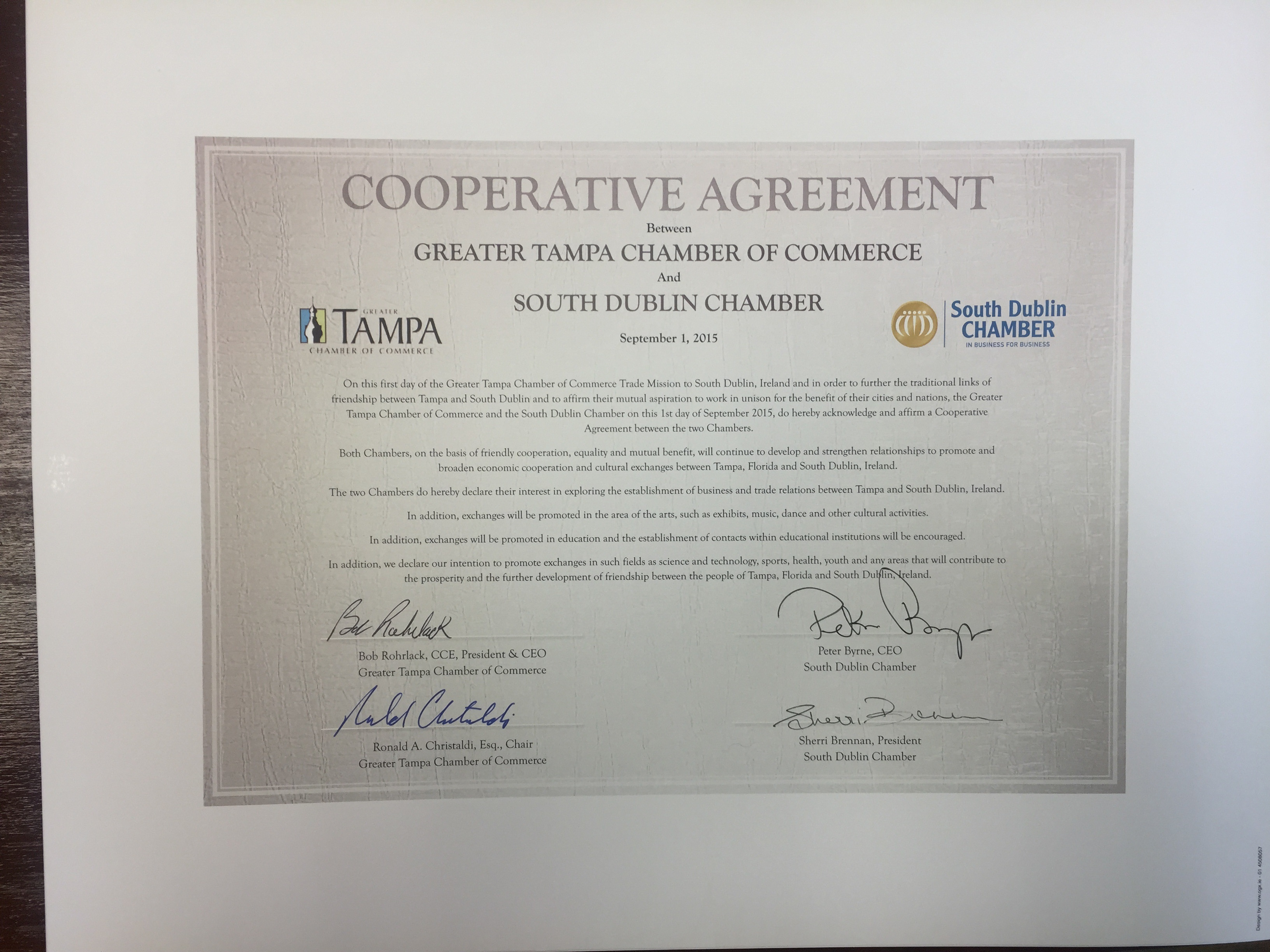 Cooperative Agreement With Florida Usa Local Enterprise Office