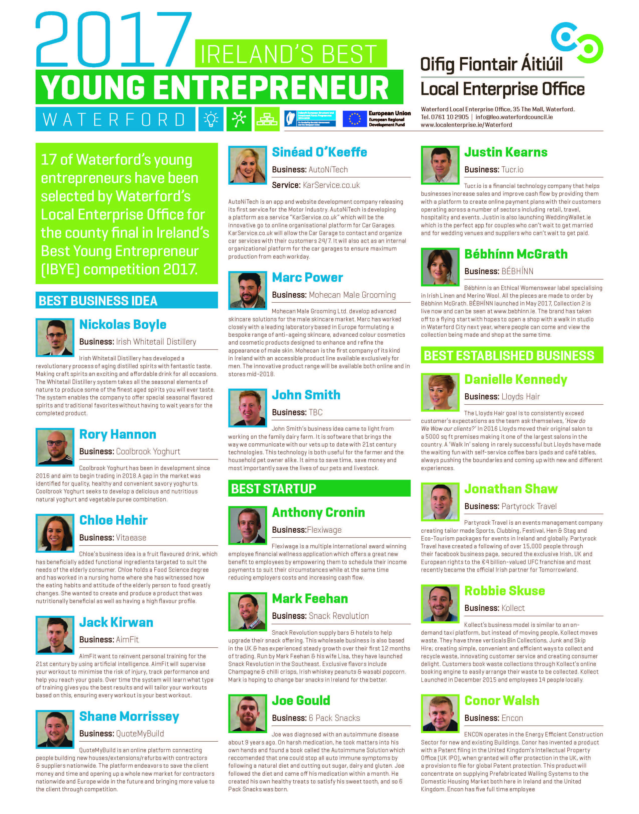 IBYE_Waterford_Finalists
