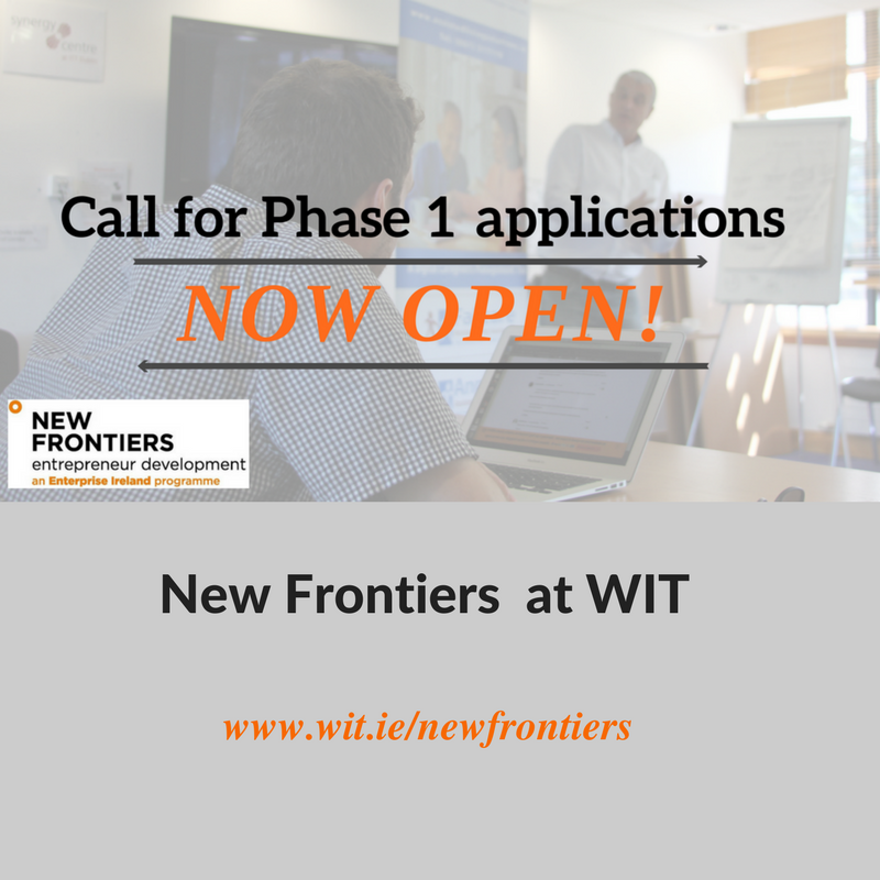 New Frontiers at WIT - call for phase 1 applications