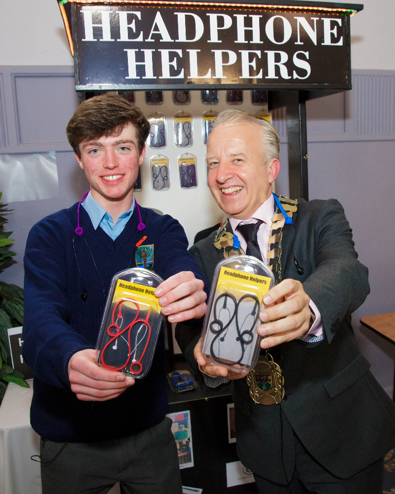 Luke Byrne, Headphone Helpers with Cllr John Ryan