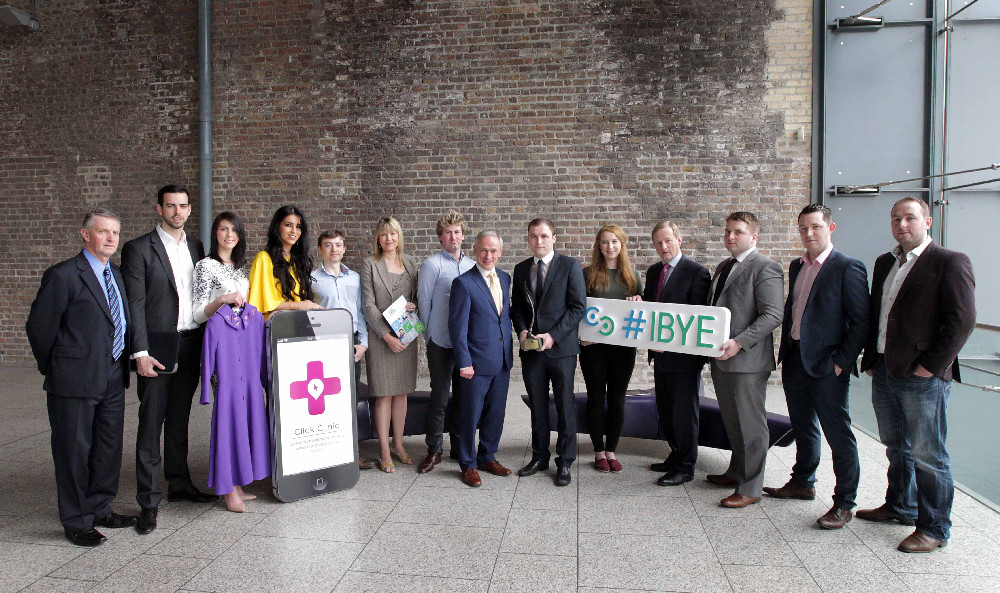 2014 IBYE winners with An Taoiseach Enda Kenny TD and Minister Richard Bruton TD