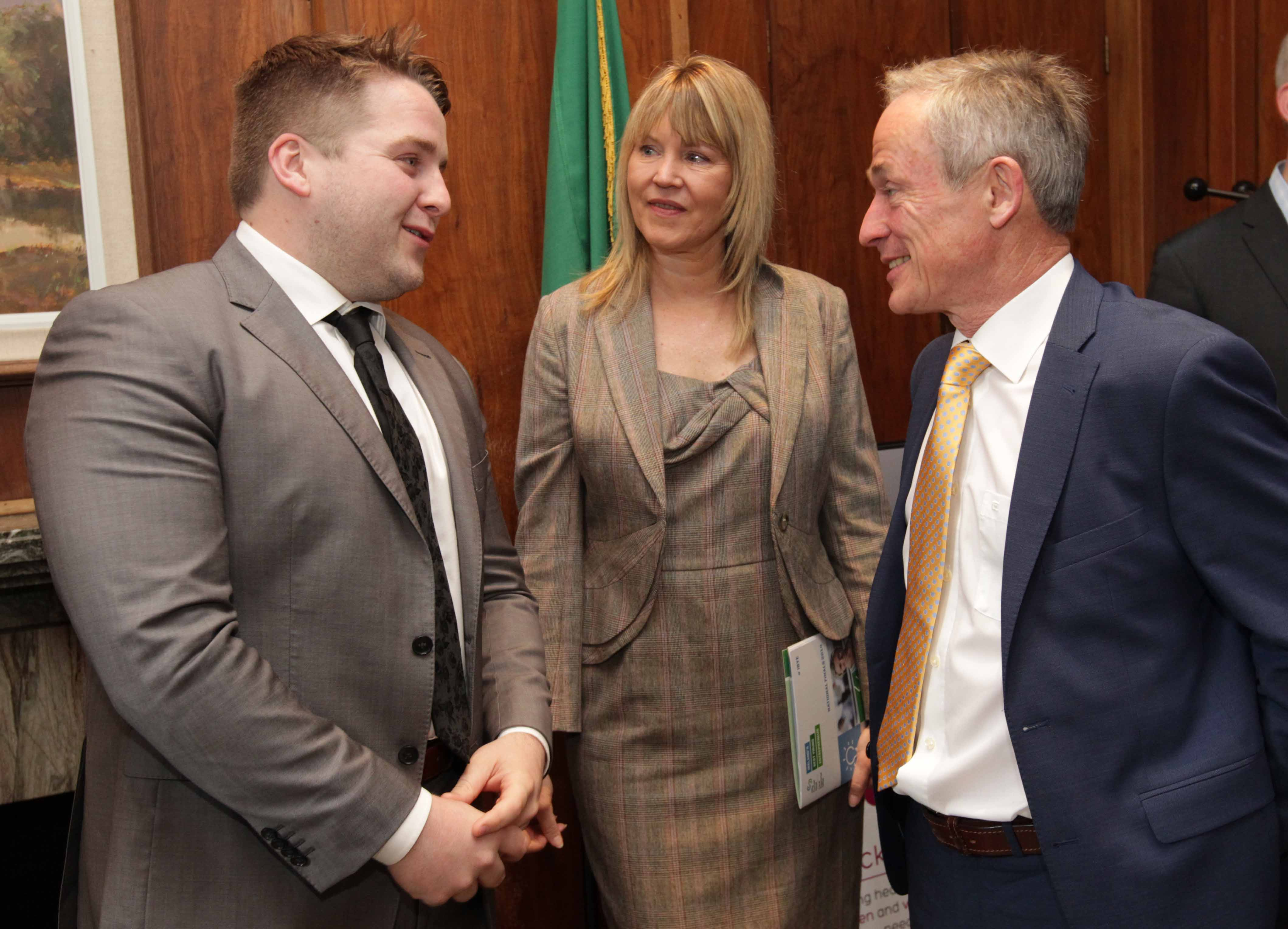 Shane Byrne, Minister Richard Bruton and Sheelagh Daly at IBYE Networking Breakfast